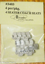 Alexander Scale Models #3403 (4 Seater Coach Seats)  (Light Metal Casting)