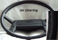 FOR VOLVO TRUCK F10 F12 BLACK ITALIAN LEATHER STEERING WHEEL COVER NEW 1977-1987