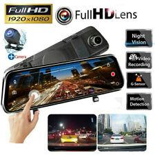 10inch FHD 1080P Car DVR Rearview Mirror Dash Cam Dual Lens Backup Camera