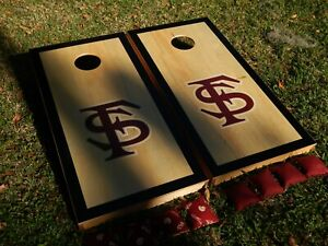 Regulation Black Border Florida State Seminoles Cornhole Board Set W/ Bags