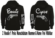 Hoodie Pullover Bonnie Clyde Motiv Partner Look Top Love Viele Farben XS - 5XL