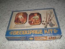 DECOUPAGE KIT by CUNNINGHAM 1974 BRIAN & BETSY