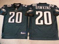 6519 REEBOK Philadelphia Eagles BRIAN DAWKINS SEWN Football JERSEY GREEN New