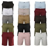 Mens Chinos Shorts Cotton Classic Fit Casual Summer Half Pants  FS