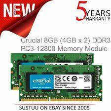 Crucial 8 GB (4 GBx2) (DDR3L│1600 MT/s│PC3L-12800│SODIM│204-Pin) Memory Module