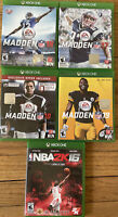 Lot Of Madden NFL 16, 17, 18 & 19 + NBA2K 16 Microsoft Xbox One (EXCELLENT COND)