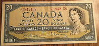 1954 CANADA 20 DOLLARS BANK NOTE - Y/E - Beattie/ Rasminsky