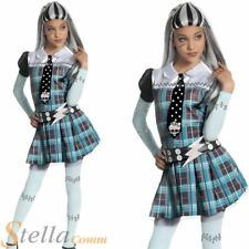 Girls Frankie Stein Monster High Costume Halloween Child Fancy Dress Outfit