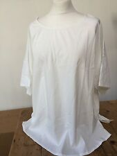 """Off white/Ivory polyester  pullover loose fitting lagen look top  54"""""""
