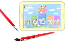 Red Dual Stylus & Ball Point Pen For Samsung Galaxy Kids Tablet