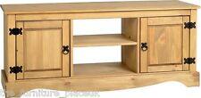 Corona Waxed Pine 2 Door 1 Shelf Flat Screen TV Unit Cupboard Storage