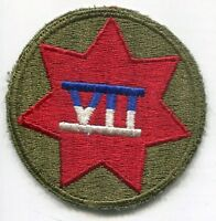 WWII WW2 US Army 7th VII Corps Color Patch