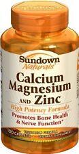 Sundown Calcium, Magnesium and Zinc Supplement - 100 ct