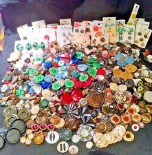 Large Lot Vintage Buttons 8 Pounds