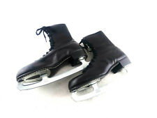 New listing Vtg Men's Black Leather Ice Skates Hardened Blades Made in W. Germany Usa Sz 11