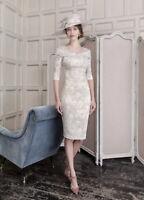 John Charles 26425, Mother Of The Bride/Groom, Dress, Taupe Latte UK16