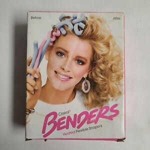 1985 Vintage Clairol Benders Hot Rollers Heated Flexible Curlers 1985 With Box