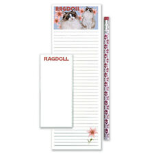 Ragdoll Cat To Do List Magnetic Shopping Pad Notepad & Pencil Gift Set