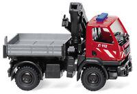 Wiking 060131 Pompieri - Unimog U 20 con Gru di Carico, Auto Modello 1:87 (H0)