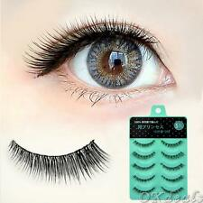 5pairs Short Cross Handmade Eye Lashes False Eyelashes Fake