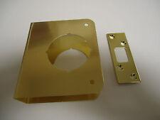 """Entry Deadbolt Door Repair Cover Brass 2-3/8"""" Backset 1-3/8"""" Door Thickness"""