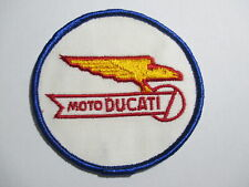 Moto Ducati Motorcycle,RARE, Vintage Patch,Embroidered, NOS, 3 X 3 INCHES