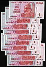 10 x 5 Billion Zimbabwe Dollars Banknotes 2008 Currency 10PCS ~ ONLY AA PREFIX!