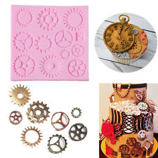 Punk Gear Shape Silicone Moulds DIY Chocolate Cake Mold Fondant Bakeware Tool