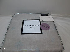 New Beekman 1802 MINETTO - Woodsmoke Queen Flat Sheet ~ Grey, Blue NIP