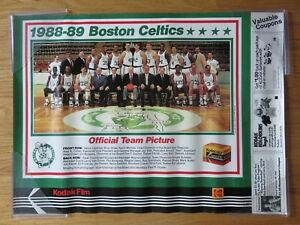 88-89 BOSTON CELTICS Kodak Poster LARRY BIRD AUERBACH KEVIN McHALE ROBERT PARISH