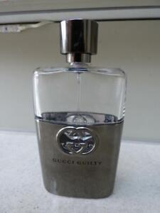 Used GUCCI GUILTY Aftershave Eau De Toilette spray 100ml, approx 35% left.