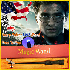 "Hot 13.4"" Harry Potter Magical Wand Bright Light Up Led Wand In Box(Free Tattoo)"