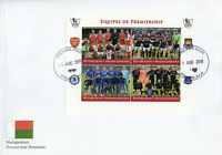 Madagascar 2018 FDC Premiership Football Arsenal Chelsea 4v M/S Cover Stamps