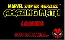 Marvel Super Heroes Amazing Math PC CD arcade addition subtraction division game