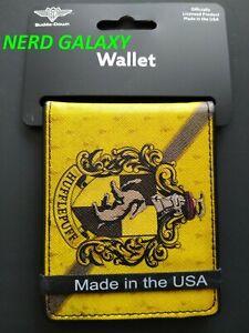 Harry Potter HUFFLEPUFF Men's Bi-Fold Wallet BUCKLE DOWN! SLIM! LICENSED!