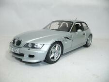 1999 BMW Z3 E36/8 M COUPE SILVER METALLIC 1:18 UT DEALER 80430020856 VERY RARE