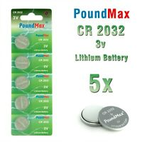 5 X Super CR2032,DL2032,BR2032,KL2032,SB-T15 PoundMax 3 VOLT LITHIUM BATTERIES