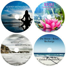 4 CDs: STRESS & ANXIETY RELIEF- HEALING MEDITATIONS & RELAXATION COLLECTION