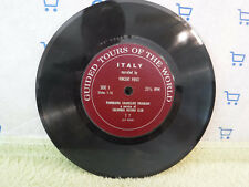 """Vincent Price, Guided Tours Of The World: Italy, T 7, 7"""" 33 RPM EP, Colorslide"""