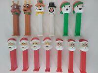 Lot 13 Christmas Pez Dispensers Santa Claus, Reindeer, Christmas Bears & Snowmen