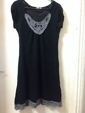 Crossroads Black Knitted Dress Size M /12