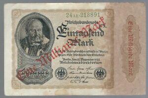 Banknote Deutschland - Weimarer Republik - Reichsbanknote - 1 Mrd. Mark - 1923