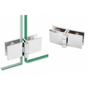 1pc 180 Degree Glass To Glass Beveled Shower Door Hinges