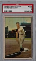 1953 Bowman Color Whitey Lockman #128 PSA 3 P810