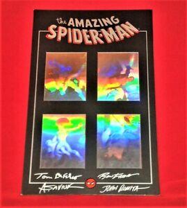 AMAZING SPIDER-MAN LIMITED MATTED HOLOGRAM SET SIGNED JOHN ROMITA SR, RON FRENZ,