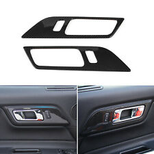 Door Handle Switch Trim Cover For Ford Mustang 15-2019 Carbon Fiber Accessories