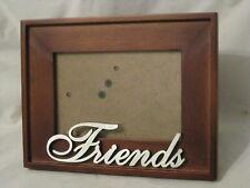 Friends picture frame Walnut wood metal photograph friendship photo decor gift