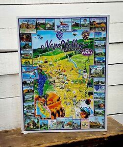 White Mountain Napa Valley Wine 1000 Pc Jigsaw Puzzle Complete CA California