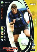 FOOTBALL CHAMPIONS 2001-02 Christian Vieri 071/230 Inter FOIL