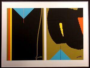 "Matthew Ruddy ""Blue Pyramid 2"" Original Paper Collage abstract '80s fine art OBO"